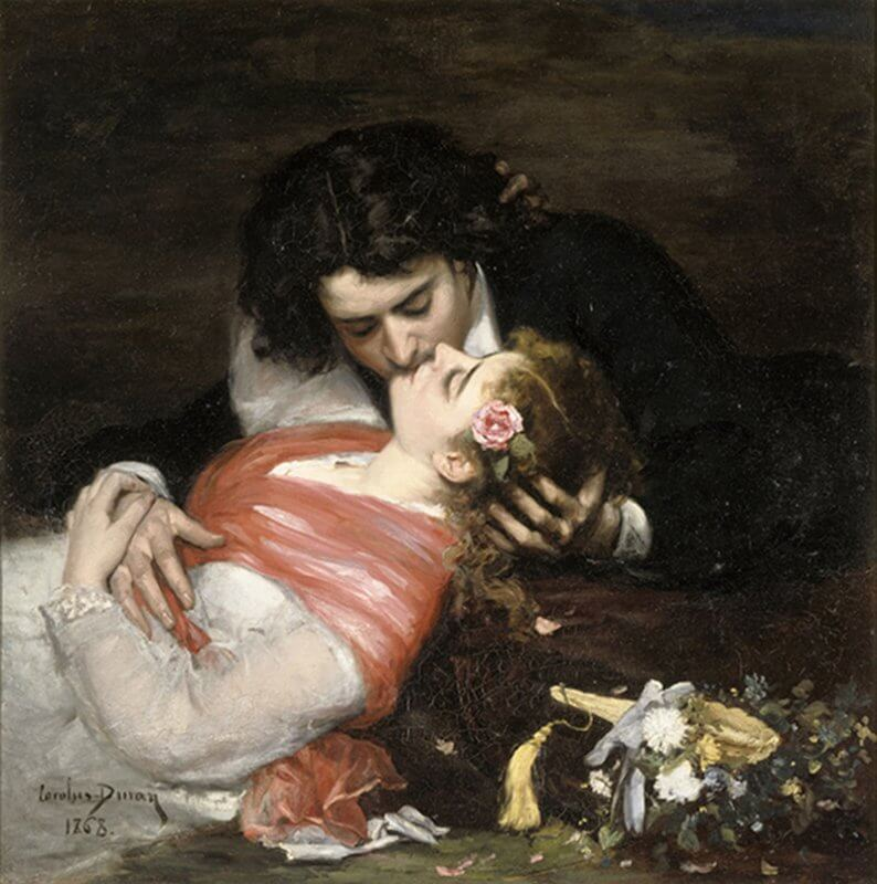 "1868 Carolus-Duran, ""The kiss"", 1868, oil on canvas Lille, Palais des Beaux-Arts © RMN-GP / H. Lewandowski"