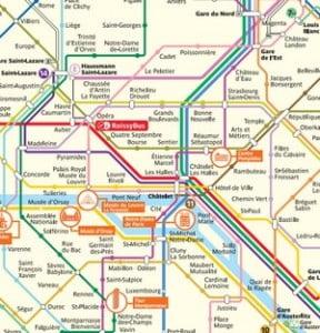 Paris Public transportation map